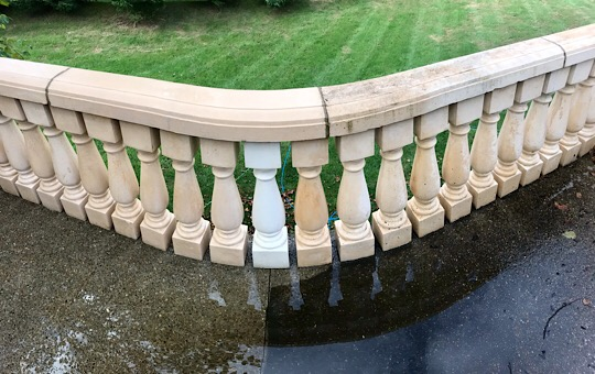 Railing has been cleaned